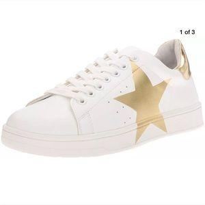 Steve Madden women's white/gold rayner  sneaker